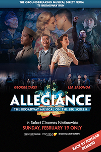 George Takei's Allegiance on Broadway Poster