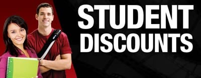 Banner image for Student Discount