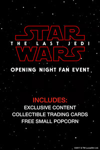 Opening Night Fan Event Star Wars: The Last Jedi  Poster